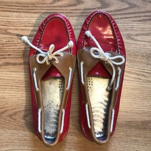Red Patent Sperry Boat Shoes - Size 11M